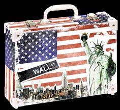 Školní kufřík malý - 33x23x10cm č. 21749 HK Malý  NEW YORK Suitcase, New York, New York City, Nyc, Briefcase