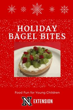 Need a quick and healthy holiday snack? Try a holiday bagel bite!