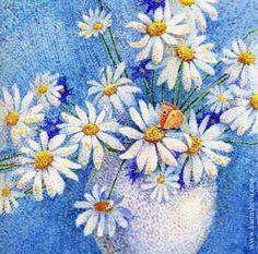 Mosaic watercolor by Tetiana Kartasheva, via Behance
