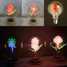 E27 3W Warm White Retro Edison Flower Moon Filament LED Light Bulb for Christmas Wedding AC240V