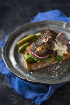 This makes a or that will stop growling tummies in their tracks. Lamb Sandwich, Quick Easy Dinner, Dinners, Meals, Creme Fraiche, Tomatoes, Sandwiches, Roast, Lunch Box