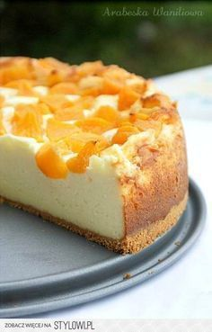 Cheesecake pudding with peaches - recipe (Polish) Polish Desserts, Polish Recipes, No Bake Desserts, Delicious Desserts, Polish Food, Baking Cupcakes, Cupcake Cakes, Baking Recipes, Cake Recipes