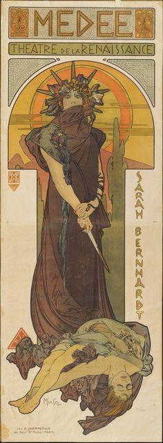Alphonse Mucha, Medee, 1898, Museum of Modern Art, New York