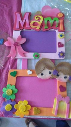 Quiet Book Templates Baby Shawer Felt Crafts Crafts To Make Crafts For Kids Cold Porcelain Birthday Holidays And Events Fathers Day Kids Crafts, Preschool Crafts, Felt Crafts, Crafts To Make, Paper Crafts, Frame Crafts, Diy Frame, Quiet Book Templates, Diy Diwali Decorations