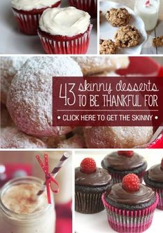 This skinny dessert roundup will help you have your cake and eat it  too!.