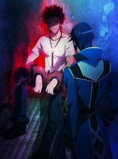 Mikoto Suho and munakata Reisi - k project! Missing Kings, Suoh Mikoto, Project Red, Neon Genesis Evangelion, Manga Illustration, Cute Anime Couples, Online Art, Anime Guys, Drawings