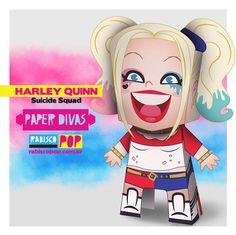 Suicide Squad - Harley Quinn Free Paper Toy Download - http://www.papercraftsquare.com/suicide-squad-harley-quinn-free-paper-toy-download.html#HarleyQuinn, #SuicideSquad