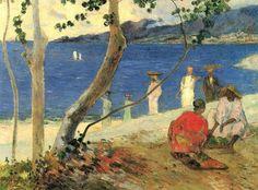 Paul Gauguin - Au bord de la mer