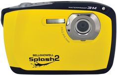Bell+Howell - 16.0 Megapixel WP16 Splash2 HD Underwater Digital Camera (Yellow)