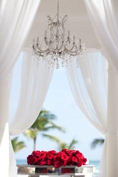 gazebo, wedding ceremony, beach wedding