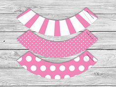 Printable Cupcake Wrapper - Pink
