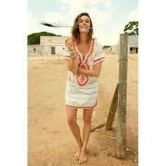 Kleid, Tunika-Stil, Stickereien Vorderansicht