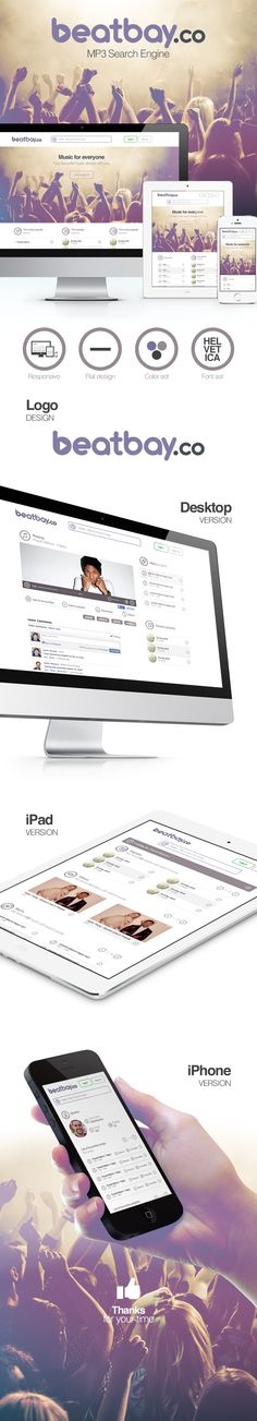 Responsive design for beatbay.co