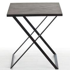 Arteriors Ray Hammered Iron Folding Tray Table by Zinc Door $792
