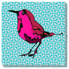 I pinned this Red Bird Wall Art from the Canvas Collectibles event at Joss and Main!