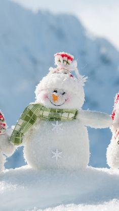 Snowmen On Mountain iPhone 5s Wallpaper Download   iPhone Wallpapers, iPad wallpapers One-stop Download