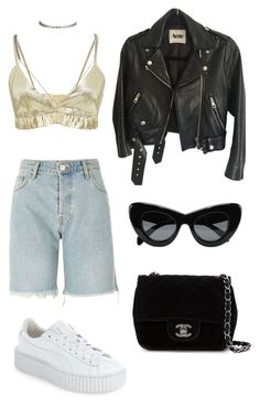 """""""Untitled #160"""" by m3287 ❤ liked on Polyvore featuring River Island, Kalmanovich, Acne Studios, Puma and Chanel"""