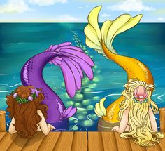 For the love of Mermaids! Art by Tiki San