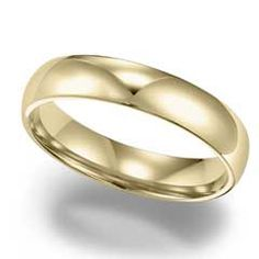 Men's 4.0mm Comfort Fit Wedding Band in 10K Gold