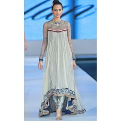 Sea Green Embroidered Anarkali Frock Crinkle Chiffon Party Dress Contact: (702) 751-3523  Email: info@pakrobe.com  Skype: PakRobe