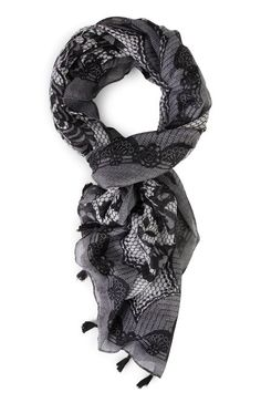 Deb Shops Lace Oblong Woven Scarf with Tassels $7.20