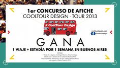 1er concurso de afiche @CoolTour Design – tour 2013