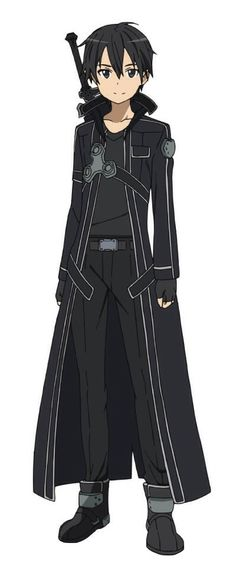 "Kirito (キリト, Kirito?) aka the Black Swordsman is the main protagonist of the Sword Art Online light novel, anime and manga series. His name, Kirito, was taken from his real name Kirigaya Kazuto (桐ヶ谷 和人, Kirigaya Kazuto?). ""Kiri--"" from Kirigaya and ""----to"" from Kazuto. He was chosen as one of the 1,000 beta testers for the closed beta of «Sword Art Online», the first ever VRMMORPG for the NerveGear."