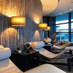 International Interior Designer, providing a bespoke and synchronised design package that can be tailored to suit our clients specific needs. Spa Treatment Room, Hotel Suites, Salon Design, Resort Spa, Surrey, Art Deco, Ceiling Lights, Interior Design, Luxury