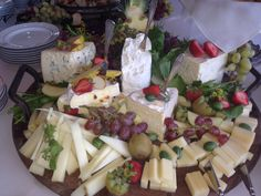 Cheese display by Heirloom Cuisine at a recent wedding at Afton Villa Gardens in St. Francisville.