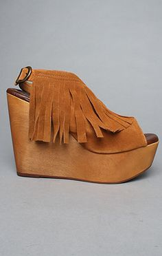 Jeffrey Campbell Snick Fringe wedge