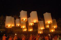 Vesak Day celebration at Borobudur temple, Indonesia (in May/June each year)