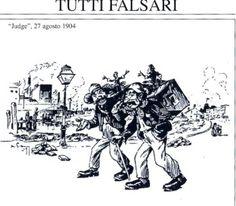 """Due immigrati italiani in una vignetta del quotidiano americano """"Judge"""" (1904)"""