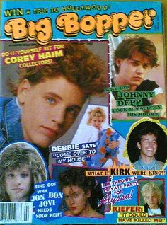 Why in the world did my parents let me buy tons of these magazines?!  I was in love with Corey Haim!