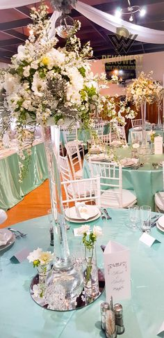 Blue Wedding Decorations, Table Decorations, Tiffany Blue, Table Settings, Furniture, Home Decor, Elegant, Tiffany Blue Color, Decoration Home
