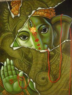 Artist Sandip Sekhar Sinha ... Mirage Art Gallery