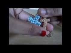 How to make a cross made of beads - YouTube