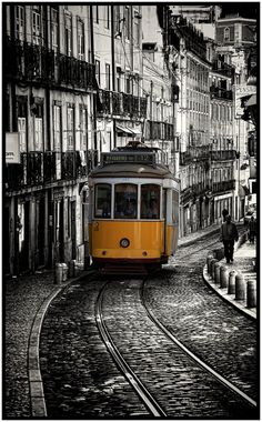 Our Vacation to Lisbon, Portugal. A most delightful and beautiful city. Not too many real cities are just themselves. Mostly you could be anywhere but Lisbon is unique. Braga Portugal, Spain And Portugal, Portugal Travel, Oh The Places You'll Go, Places To Travel, Places To Visit, Travel Around The World, Around The Worlds, Lisbon Tram