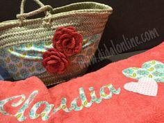 Capazo y toalla de playa realizado por Lorena
