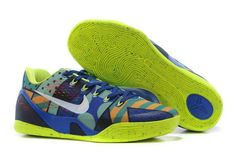 "8de1d9ff42ae Shop Nike Kobe 9 EM ""Brazil"" Game Royal White-Venom Green For Sale Lastest  black"