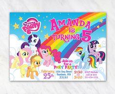 Mi pequeña invitación de Pony para fiesta de cumpleaños  para