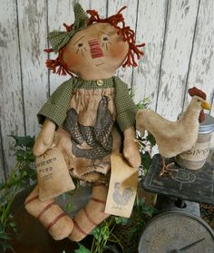 $8.95 Just updated Raggedy Ann cloth doll patterns..