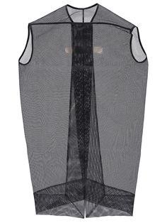 transparency, layers/folding. Rick Owens Womens Woven Cloak