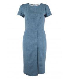 Blue and White Ditsy Print Wrap Skirt Dress - Printed Dresses - Dresses - Clothing