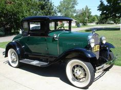 This Nash's 1930 Ford Model A. He wants to put oh ah don't know, whitewalls, paint it a different green, put a soft top on it and on and on. He lost me when he started with the word hard work....