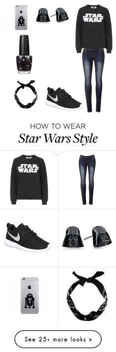 """The Star Wars lovers ootd!"" by riley-21 on Polyvore featuring Tee and Cake, NIKE, OPI, women's clothing, women's fashion, women, female, woman, misses and juniors"