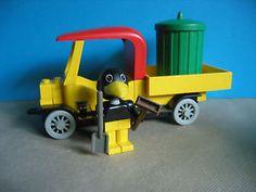Lego-Fabuland-3634-Muellauto-mit-Muelltonne-und-Figur-Charlie-Crows-Carry-All
