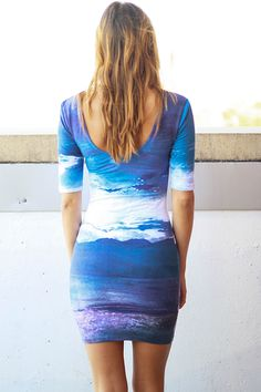 #Sea dress. #Jolene Dress. Not big on patterns, but this is def original. Would look good on someone with short or blond hair.