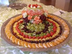 Fruit Carving Arrangements and Food Garnishes: midnight buffet