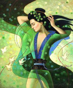 art deco--She looks like a Goddess to me : )