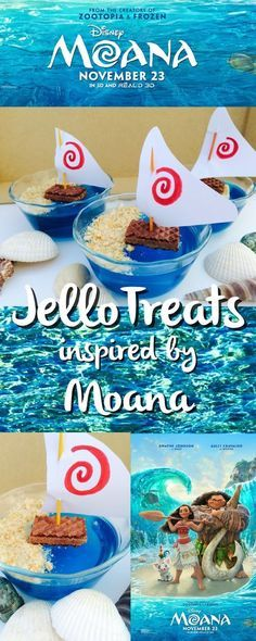 The Ultimate Pinterest Party, Week 125 The Jersey Momma: Disney's Moana-Inspired Jello Treats